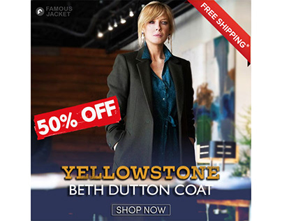 Black Long Yellowstone Beth Dutton Trench Coat