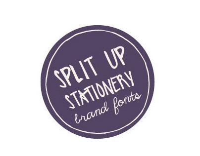 Split Up Stationary – Brand Fonts