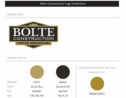 Bolte Construction Logo Design