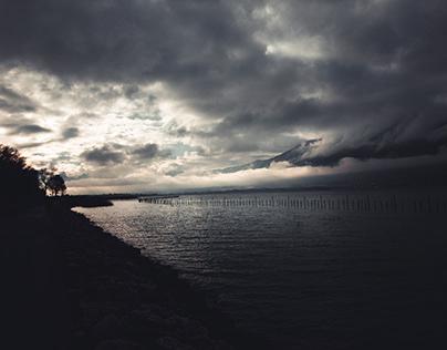 Lac du Bourget-France-Automne hiver 2020, Savoie-73000