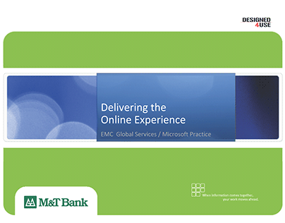 Delivering the Online Banking Experience for M&T