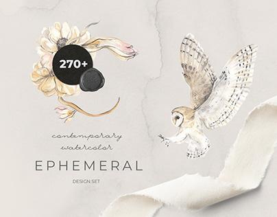 EPHEMERAL: contemporary watercolor design set