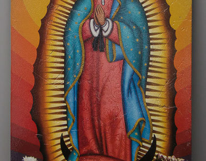 Virgin Mary on Tiles