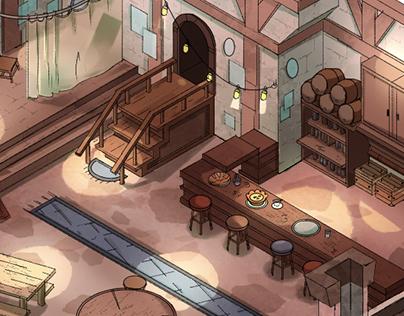 TTRPG Tavern map