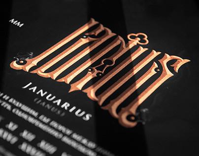 """CALENDARIUM """"memento mori"""": Letterings/logos/colages"""
