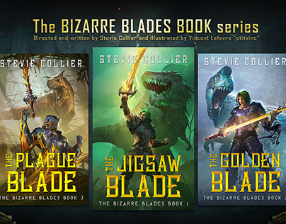 the bizarre blades book covers 1.2.3