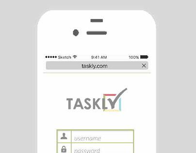 Taskly- Mobile Screen Design