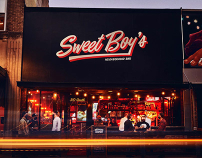 Sweet Boy's Bar Brand, Logotype & Mascot
