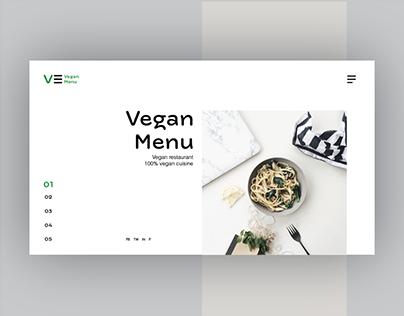 Vegan Menu Concept