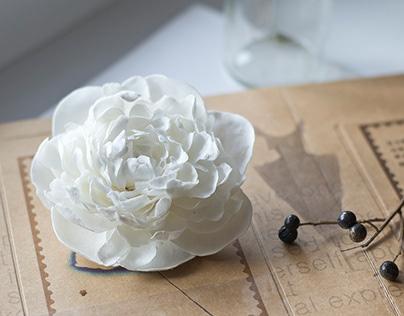 White handmade flowers