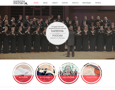 Website for the orchestra