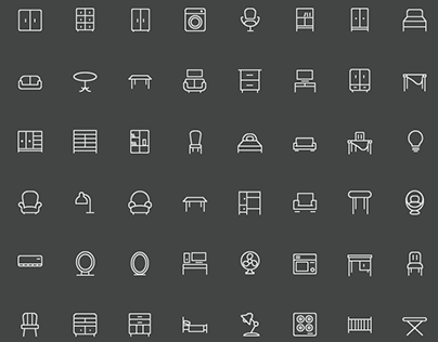 100 Home Furniture Icons -  Electronic Appliances Icons