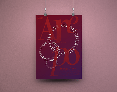 Poster for a typeface and its designer