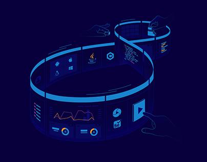 TestProject web illustrations