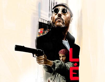 Leon, alternative movie poster, personal work.