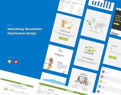Marketing Newsletters Dashboard App