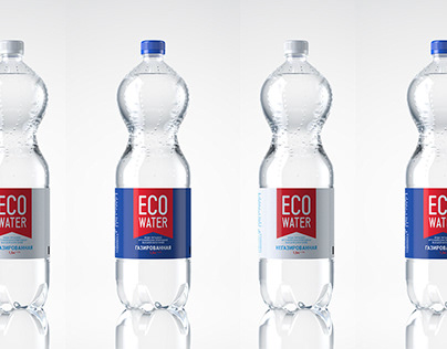 "Packaging and identity for ""ECO WATER"""
