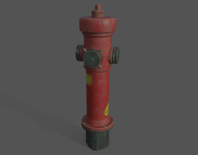 Fire hydrant low poly