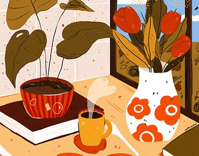 Le coin de la table