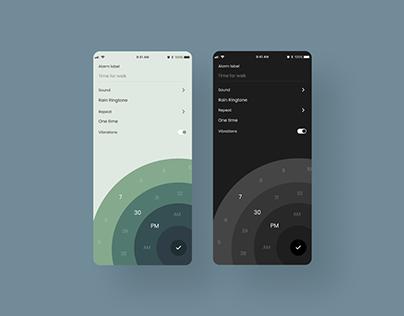 Alarm App Concept