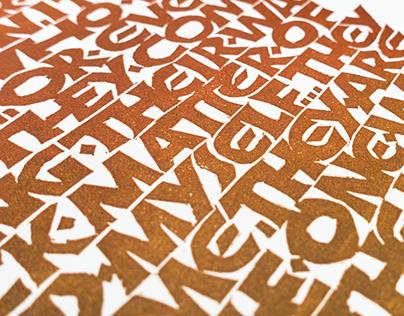 Mad Max Linocut Print