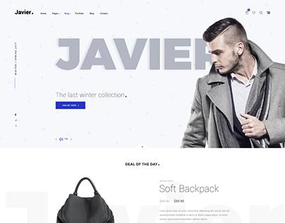 Javier - Premium E-Commcerce PSD Templates