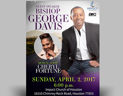 Impact Church Houston: 2nd Year Anniversary Poster