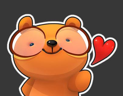 Wunderkind Bear stickers