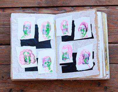 Sketchbook reel 2016-2017 - illustration and journaling