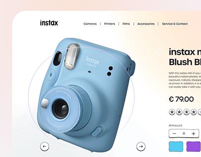 instax concept website