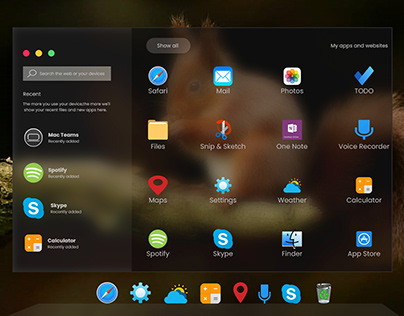Apple OSX Redesign of Windows 10X