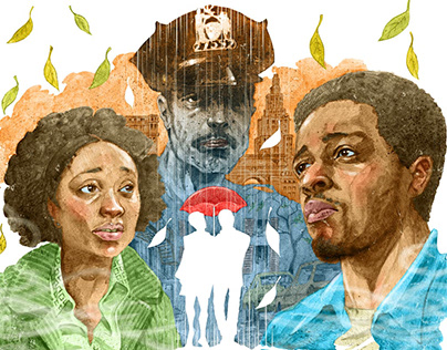 'If Beale Street Could Talk' Magazine illustration