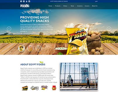 Egypt Foods Corporate Website Homepage UI /UX