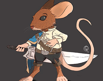 A mouse warrior