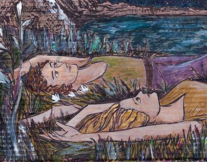 Иллюстрация к песне «Летняя ночь, летящая в пустоте»