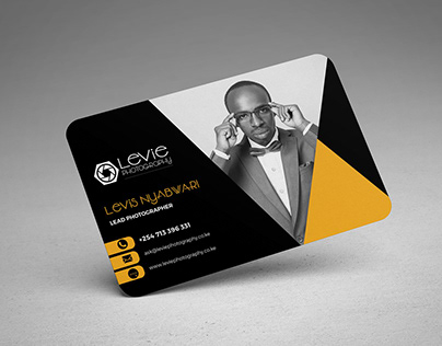 • BUSINESS CARD DESIGN • Levie Photography