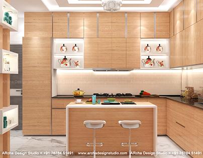 Island kitchen 3d design