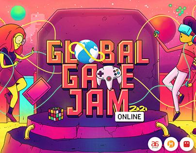 Promo artworks for Global Game Jam - 2021