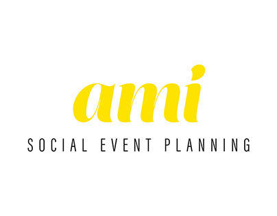 Ami Social Event Planning Brand Design