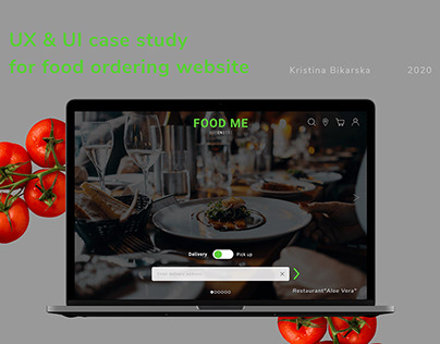 Food ordering website - UI&UX