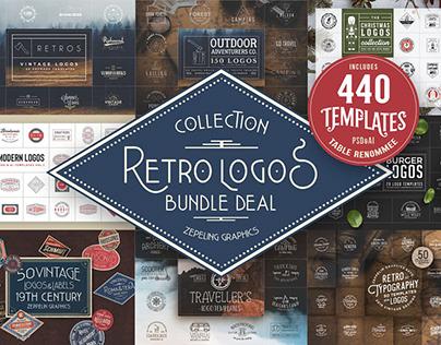 440 Modern Retro Logos Collection