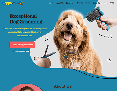 Pet Sitting And Grooming Landing Page Design
