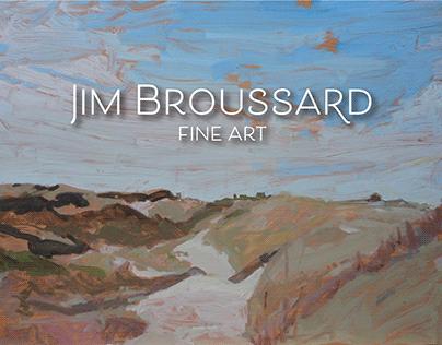 Logo and Website for Jim Broussard Fine Art