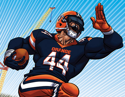 Syracuse Football vs. Holy Cross Game Day Poster Art