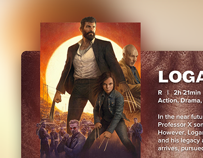 Logan Movie Popup/Overlay (DailyUI Challenge)