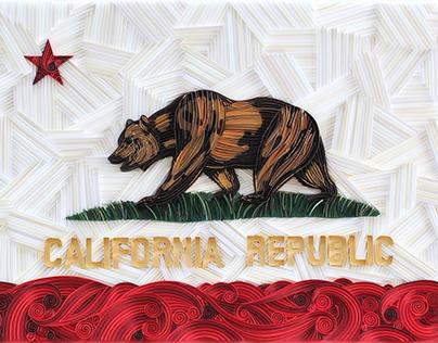 'California' Paper Quilling
