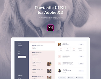 Pawtastic UI Kit for Adobe XD