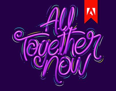 Twisty balloon letters x Adobe Max 2020