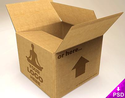Cardboard Bock Mockup Freebie