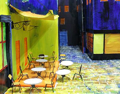 van gogh's café terrace at night